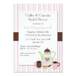 "Trendy Coffee Bridal Shower Invitation 5"" X 7"" Invitation Card"