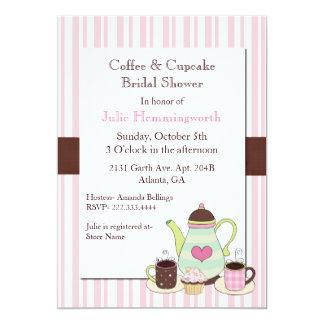Trendy Coffee Bridal Shower Invitation