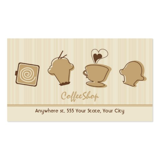 Trendy Coffee Business Card (front side)