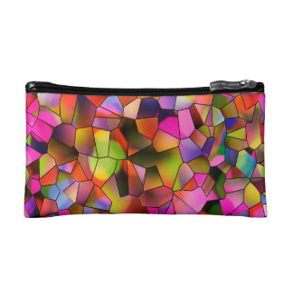 Trendy Color Abstract Art Stained Glass Makeup Bag