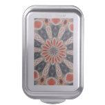 Trendy colorful art cake pan