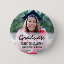 Trendy Colorful Chevrons Graduation Party Pinback Button