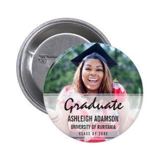 Trendy Colorful Chevrons Graduation Party Pinback Button