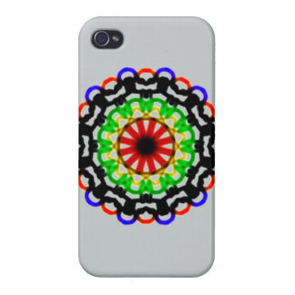 Trendy colorful circle pattern case for iPhone 4
