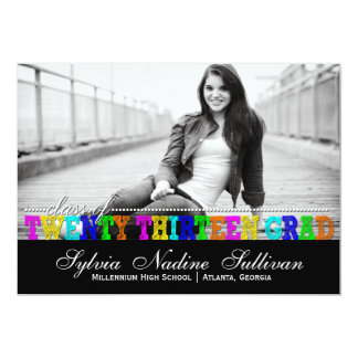 Trendy Colorful Class of 2013 Accomplished Grad Card