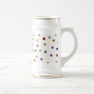 Trendy Colorful Dots Pattern 18 Oz Beer Stein