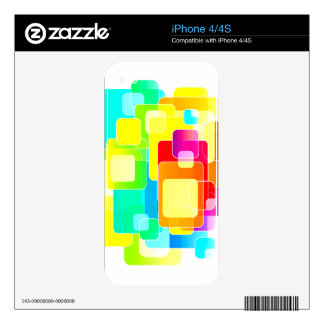 Trendy Colorful Geometric Collage Decal For The iPhone 4