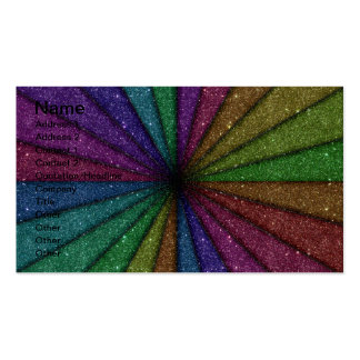 Trendy Colorful Glitter Explosion Double-Sided Standard Business Cards (Pack Of 100)
