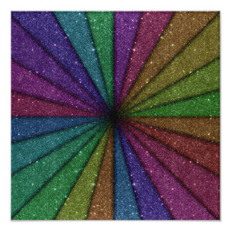 Trendy Colorful Glitter Explosion Photo Print