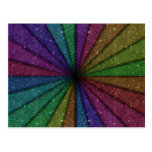 Trendy Colorful Glitter Explosion Post Card