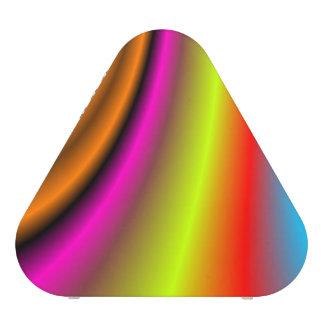 Trendy colorful line bluetooth speaker