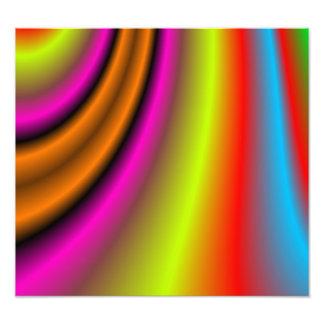 Trendy colorful line photographic print