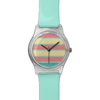 Trendy colorful mint coral summer watch