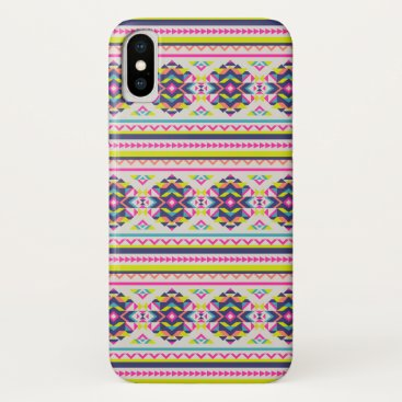 Aztec Themed Trendy Colorful Modern Aztec Pattern iPhone X Case