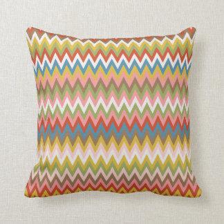 Trendy Colorful Modern Geometric Zigzag Pattern Throw Pillow