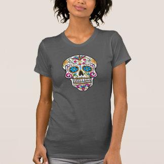 Trendy Colorful Modern Skull, Ladies Tee