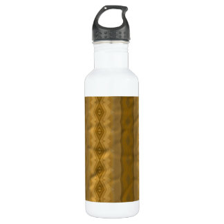 Trendy colorful paper pattern stainless steel water bottle