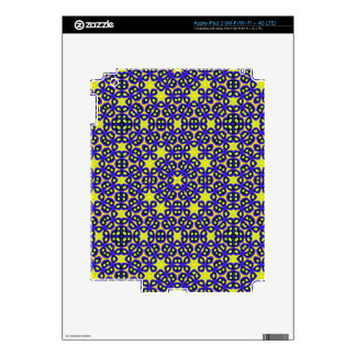 Trendy colorful pattern iPad 3 skin