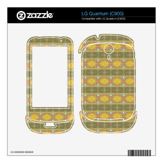 Trendy colorful pattern decals for LG quantum