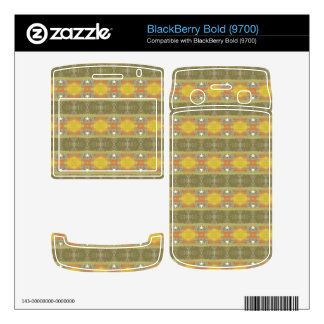 Trendy colorful pattern skins for BlackBerry