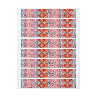 Trendy colorful Pattern Wrap Around Address Label