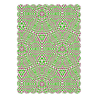 Trendy colorful square pattern personalized invite