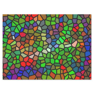 """Trendy Colorful stained glass 17"""" X 23"""" Tissue Paper"""