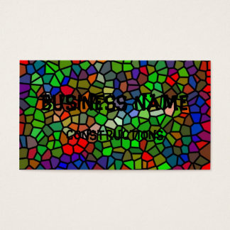Trendy Colorful stained glass Business Card
