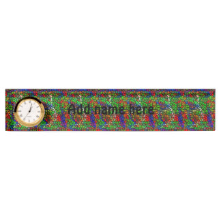 Trendy Colorful stained glass Nameplate