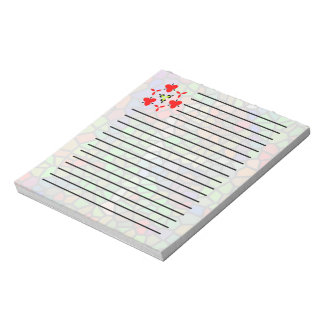 Trendy Colorful stained glass Notepad