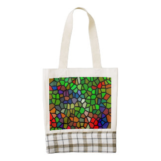 Trendy Colorful stained glass Zazzle HEART Tote Bag
