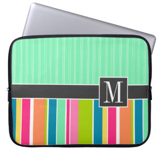 Trendy Colorful Stripes Laptop Computer Sleeves
