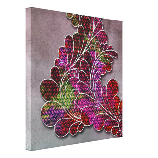 Trendy Colorful Swirly Pattern Stretched Canvas Print