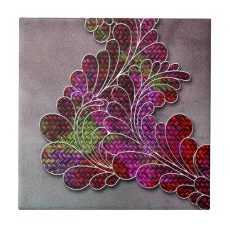 Trendy Colorful Swirly Pattern Ceramic Tile