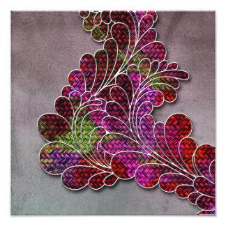 Trendy Colorful Swirly Pattern Photo