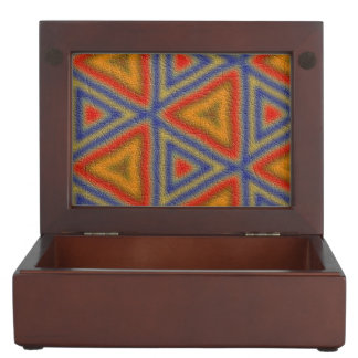 trendy colorful triangle pattern memory boxes