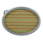 Trendy colorful tribal pattern belt buckles