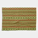 Trendy Colorful tribal pattern Kitchen Towels