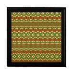 Trendy Colorful tribal pattern Trinket Boxes