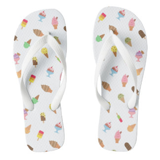 Trendy Colourful Ice Cream Desserts Summer For Her Flip Flops