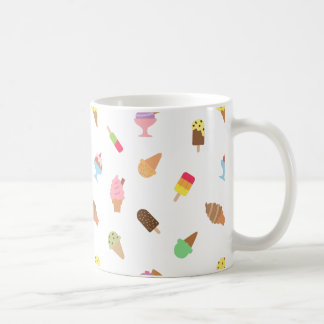 Trendy Colourful Ice Cream Pattern For Her Coffee Mug