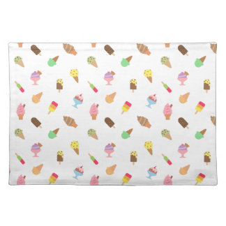 Trendy Colourful Ice Cream Pattern For Her Cloth Placemat
