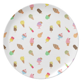 Trendy Colourful Ice Cream Pattern For Her Party Plates