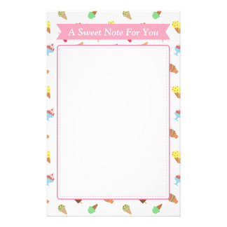 Trendy Colourful Ice Cream Pattern For Her Stationery