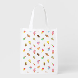 Trendy Colourful Ice Cream Pattern For Her Market Tote