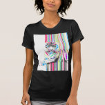 trendy colourful vibrant neon stripes tiger paint T-Shirt