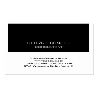 Trendy Contemporary Black White Business Card