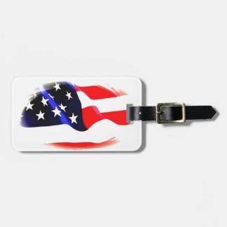 Trendy Cool American Flag Luggage Bag Tag