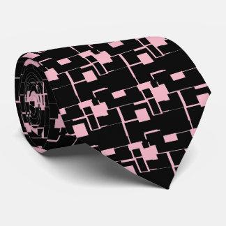 Trendy Cool Black/Pink Pattern Neck Tie