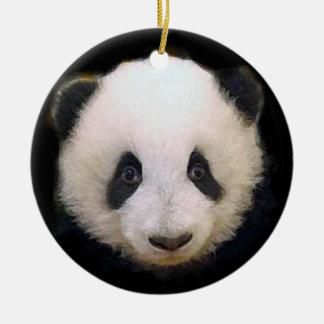 Trendy Cool Chic Panda Christmas Tree Ornament